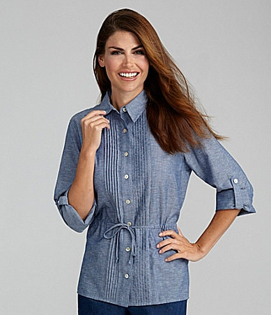 Samantha Grey Chambray Shirt