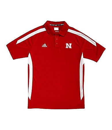 Adidas University of Nebraska Sideline Polo Shirt
