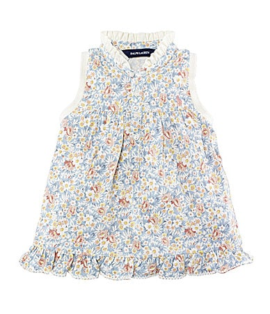 Ralph Lauren Childrenswear 2T-6X Floral Mesh Polo Top
