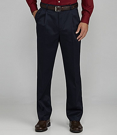 Roundtree & Yorke Pleated Inno-Flex Travel Smart Twill Pants