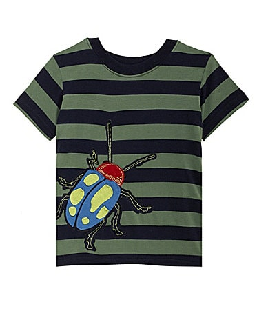 Class Club 2T-7 Striped Bug Screenprint Tee