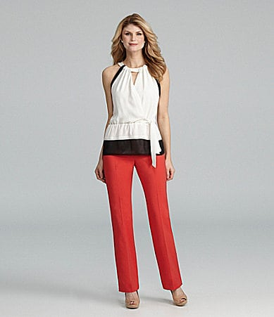 Antonio Melani Anoki Colorblock Blouse & Minnie Straight Leg Pant