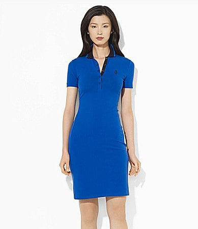 Lauren Ralph Lauren Stretch Cotton Polo Dress