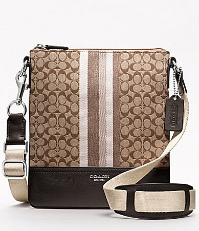 COACH LEGACY SIGNATURE STRIPE SWINGPACK
