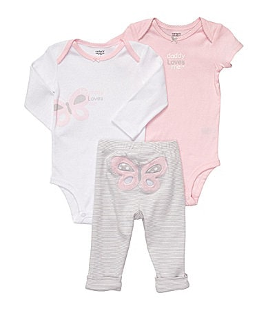 Carter�s Newborn Butterfly 3-Piece Bodysuit Set