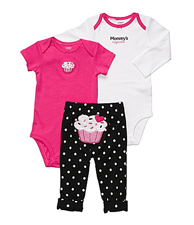 Carter�s Newborn Cupcake 3-Piece Bodysuit Set