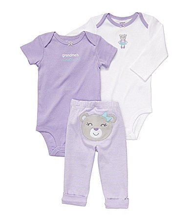 Carter�s Newborn Bear 3-Piece Bodysuit Set