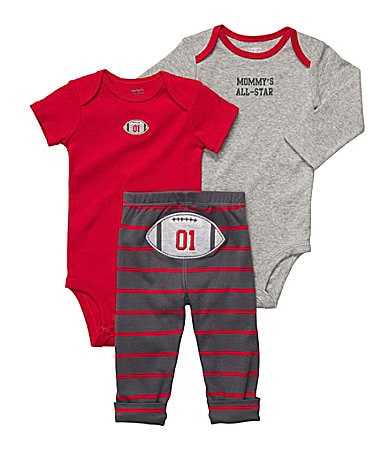 Carter�s Newborn Football 3-Piece Bodysuit Set