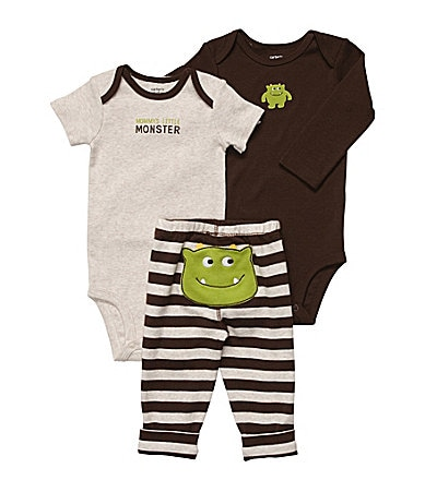 Carter�s Newborn Monster 3-Piece Bodysuit Set