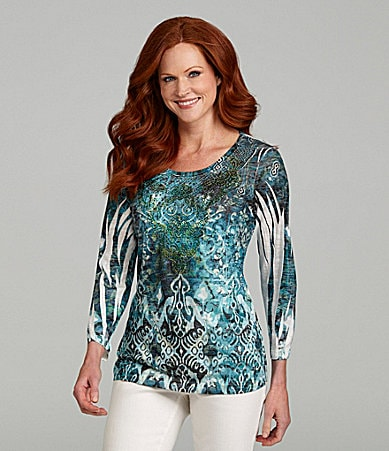 Reba Vintage Tribal Sublimation Top