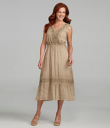 Reba Soutache Mid-Calf Dress