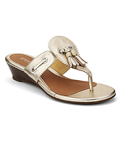 Sperry Top-Sider Women�s Isabella Demi-Wedge Thong Sandals