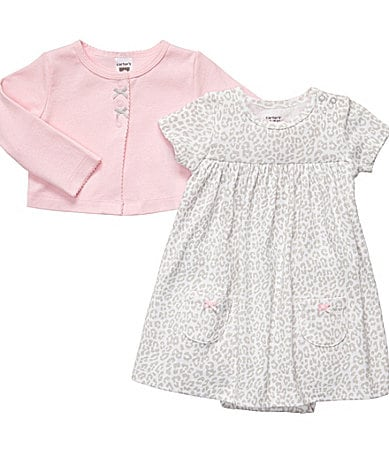 Carter's Newborn Animal Print 2-Piece Dress Set