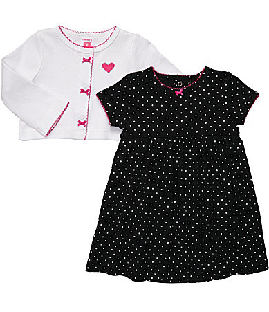 Carter�s Newborn Polka Dot 2-Piece Dress Set