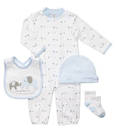 Carter�s Newborn Elephant 4-Piece Sleeper Set