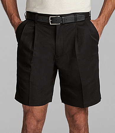 Roundtree & Yorke Big & Tall Microfiber Pleated Expander Shorts