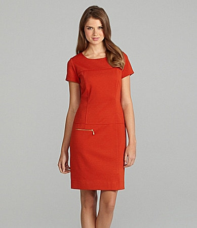 Tahari Drop-Waist Dress