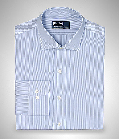 Polo Ralph Lauren Custom-Fit Estate Striped Pinpoint Oxford Dress Shirt