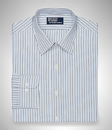 Polo Ralph Lauren Custom-Fit Andrew Striped Broadcloth Dress Shirt