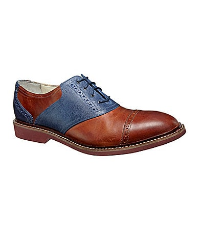 Cole Haan Men�s Air Franklin Cap-Toe Saddle Oxfords
