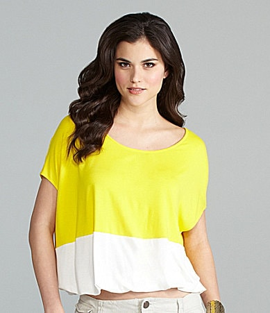 Gianni Bini Mireya Boxy Colorblock Top