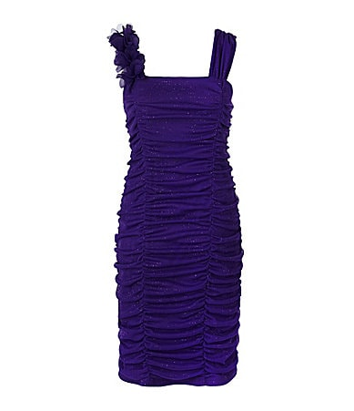 I.N. Girl 7-16 Shirred Glittered Tube Dress