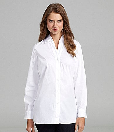 Peter Nygard Petites V-Neck Button-Front Shirt