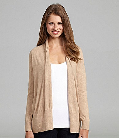 Peter Nygard Ribbed-Trim Cardigan