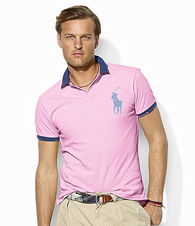 Polo Ralph Lauren Custom-Fit Short-Sleeved Tipped Cotton Mesh Polo Shirt