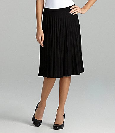 TanJay Petites Pull-On Knife Pleated Skirt