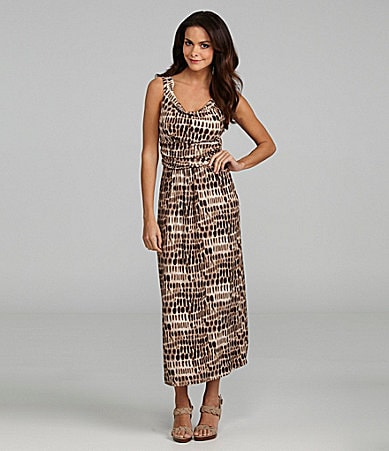 Vince Camuto Tie-Dye Knit Maxi Dress