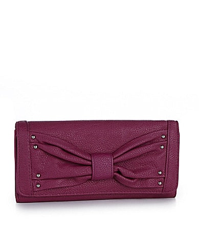 Kate Landry Big Bow Checkbook Clutch