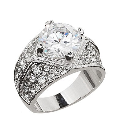 Tivoli Round-Cut CZ Band Ring