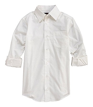 Class Club 8-20 Striped Spread Collar Dress Shirt