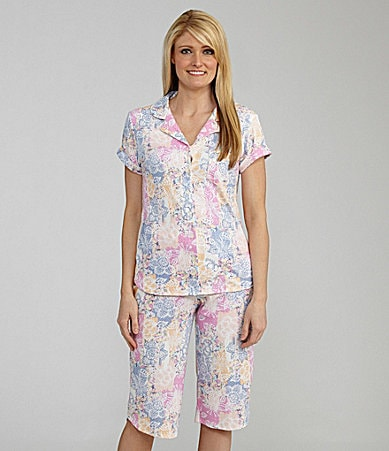 Karen Neuburger Senorita Short Sleeve Crop Pajamas