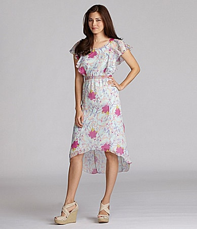 Chelsea & Violet Floral Hi-Low Dress
