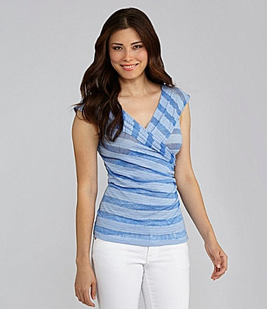 Chelsea & Violet Burnout-Stripe Top