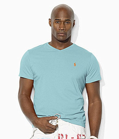 Polo Ralph Lauren Big & Tall Classic-Fit Cotton V-Neck T-Shirt