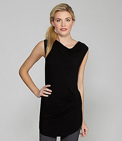 DKNY Sleeveless Long Drape Tank