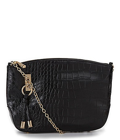 Kate Landry Social Croco Top Zip Cross-Body Bag