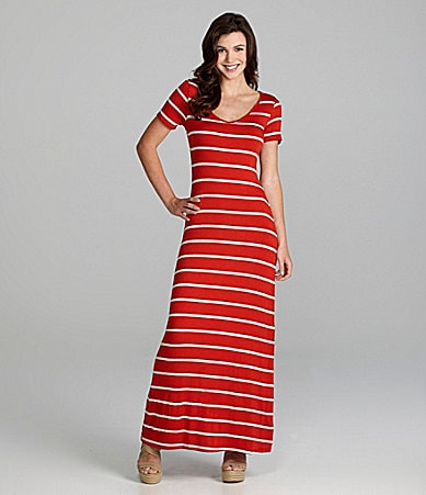 Soprano Striped Maxi Dress