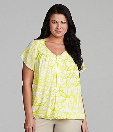 M.S.S.P. Woman Flutter-Sleeve Blouse