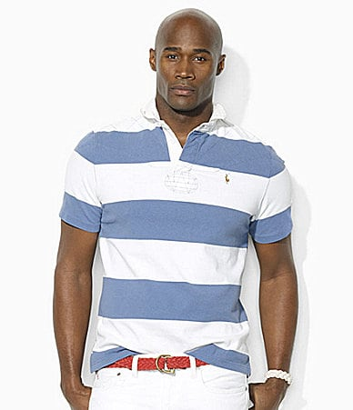 Polo Ralph Lauren Big & Tall Classic-Fit Striped Cotton Rugby Shirt