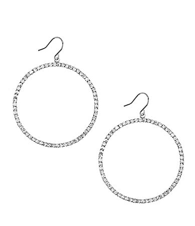 Cezanne Crystal Circle Hoop Earrings