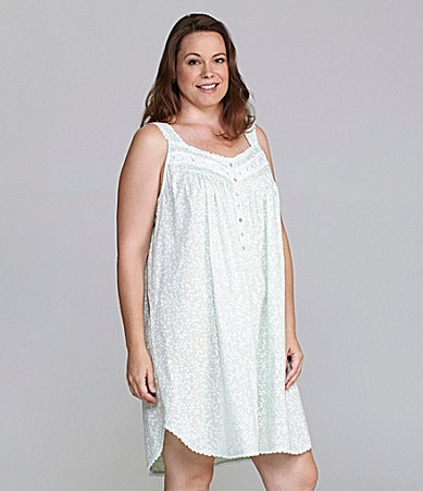Eileen West Woman Angelic Flower Short Sleeveless Nightgown