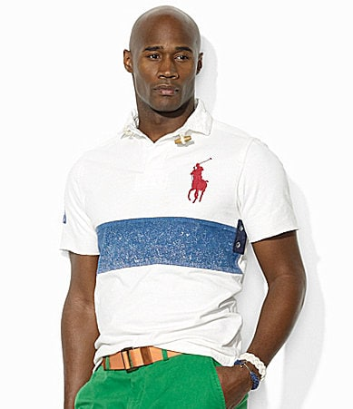 Polo Ralph Lauren Big & Tall Classic-Fit Pieced Cotton Rugby Shirt