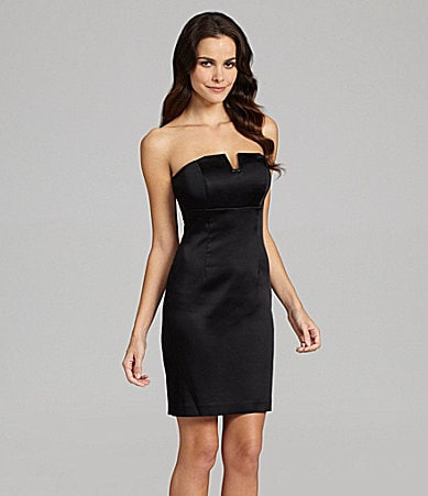 Calvin Klein Strapless Satin Dress