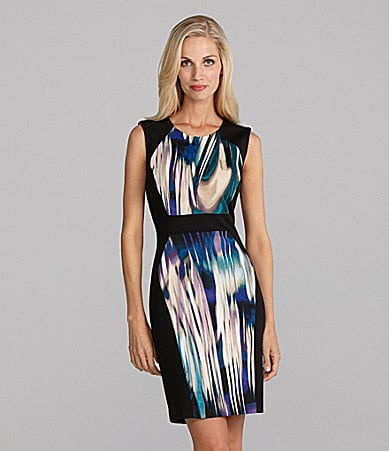 Calvin Klein Blur-Print Sleeveless Dress