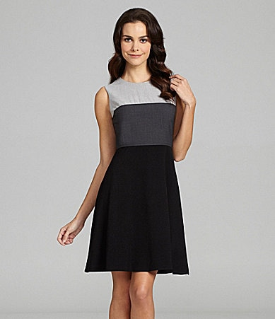 Calvin Klein Tri-Tone Dress