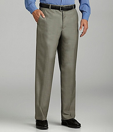 Perry Ellis Flat-Front Dress Pants